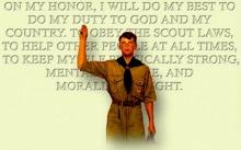 童軍誓詞Scout Oath(網絡圖片)