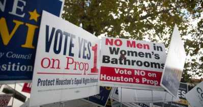 支持及反對HERO標語(圖:Progress Texas)