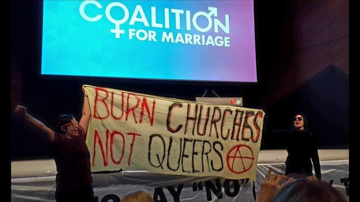 同性婚姻支持者罵入