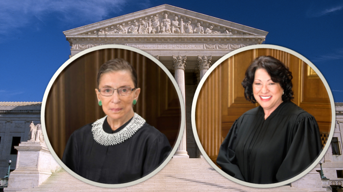 judges ginsburg and sotomayor